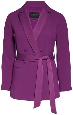 Eloquii belted blazer | 40plusstyle.com
