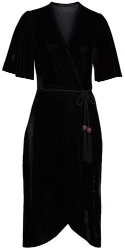 Fraiche by J velvet wrap dress | 40plusstyle.com