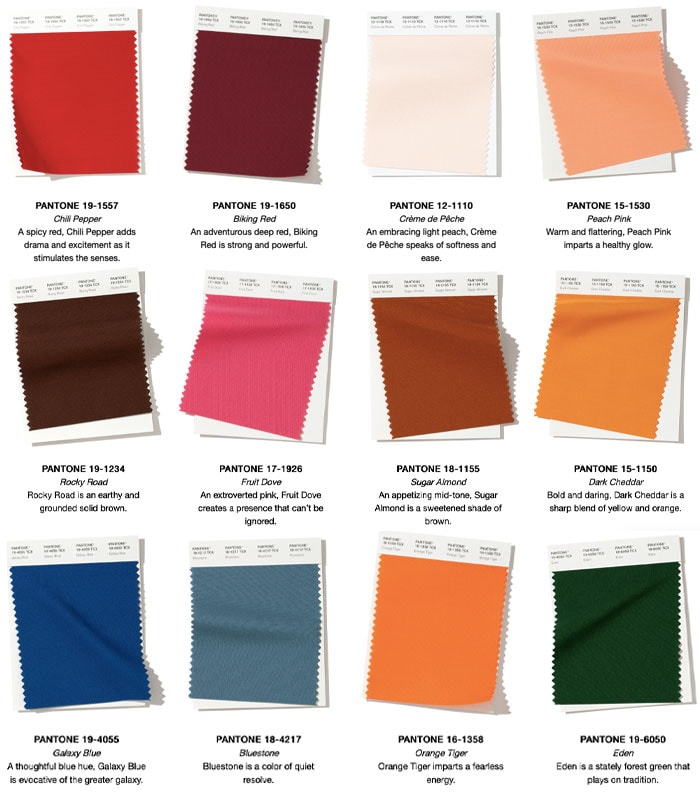 fall/winter pantone colors | 40plusstyle.com