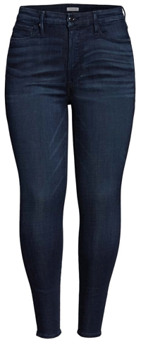 Good American high rise skinny jeans | 40plusstyle.com