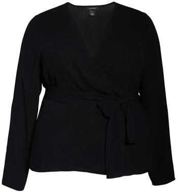 Halogen wrap blouse | 40plusstyle.com