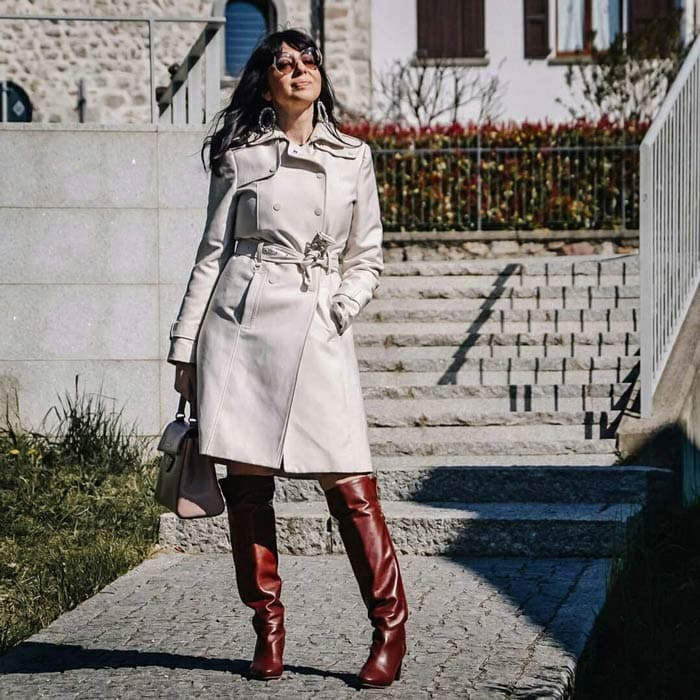 belted trench coat | 40plusstyle.com