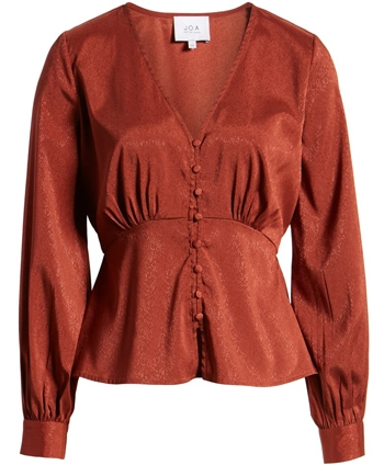 J.O.A. empire waist blouse | 40plusstyle.com