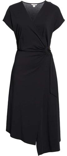 Joie asymmetrical wrap dress | 40plusstyle.com