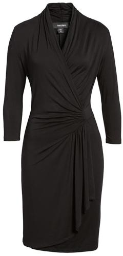 perfect little black wrap dress | 40plusstyle.com