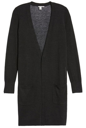 long straight cardigan | 40plusstyle.com