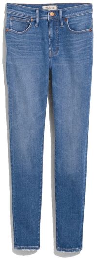 Madewell mid rise skinny jeans | 40plusstyle.com