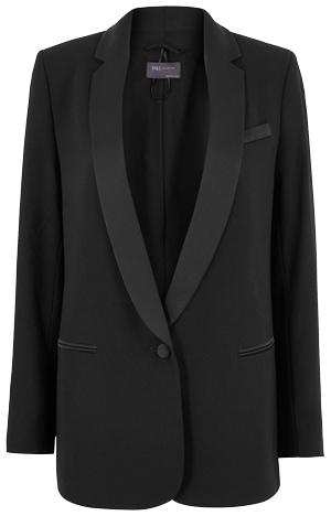 Marks & Spencer tuxedo blazer | 40plusstyle.com