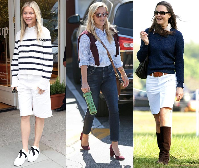 celebrities with a preppy look | 40plusstyle.com