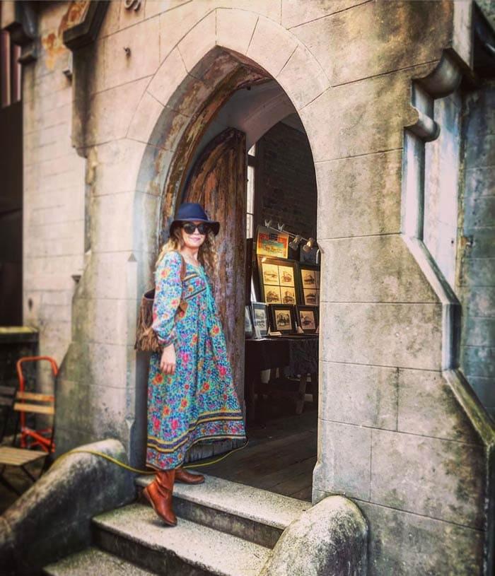 bohemian long, flowy dresses | 40plusstyle.com