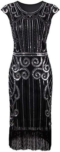 Vijiv sequin embellished dress | 40plusstyle.com