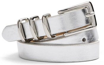 Topshop metallic belt | 40plusstyle.com