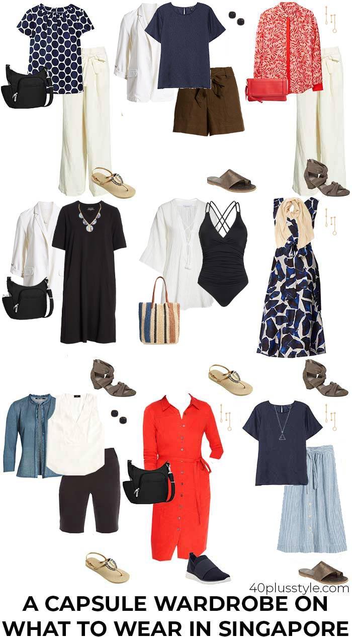 Capsule wardrobe for Singapore | 40plusstyle.com