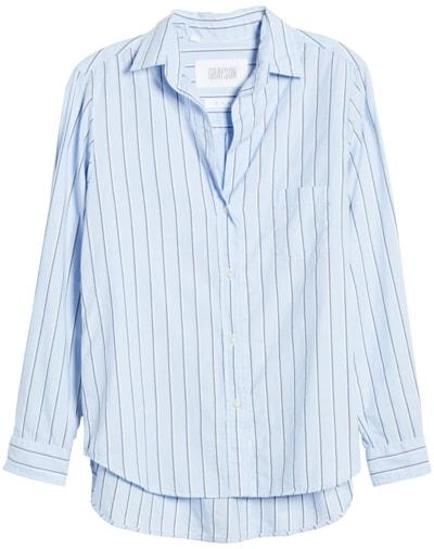Grayson stripe shirt | 40plusstyle.com