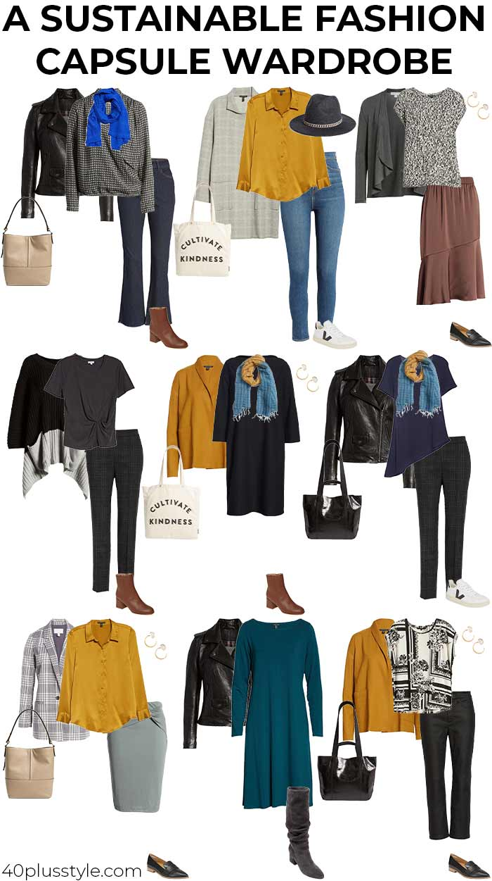 A sustainable fashion capsule wardrobe: 9 ways to master ethical fashion without compromising on style   40plusstyle.com