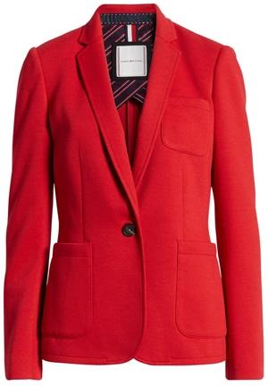 Tommy Hilfiger knit blazer | 40plusstyle.com