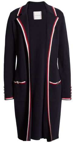 Tommy Hilfiger sweater jacket | 40plusstyle.com