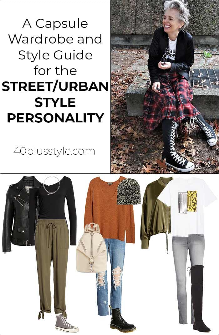 A style guide and capsule wardrobe for the street style personality | 40plusstyle.com