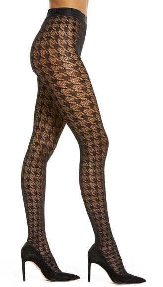 Wolford houndstooth tights | 40plusstyle.com