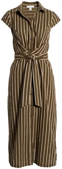 1901 stripe shirtdress | 40plusstyle.com