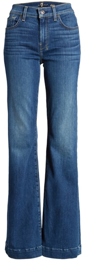 7 For All Mankind wide leg jeans | 40plusstyle.com