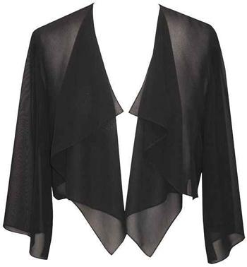 shrugs and boleros for evening dresses: Alex Evenings Hanky bolero | 40plusstyle.com