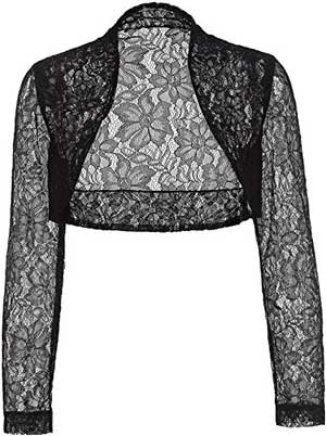 shrugs and boleros for evening dresses: Belle Poque lace bolero | 40plusstyle.com