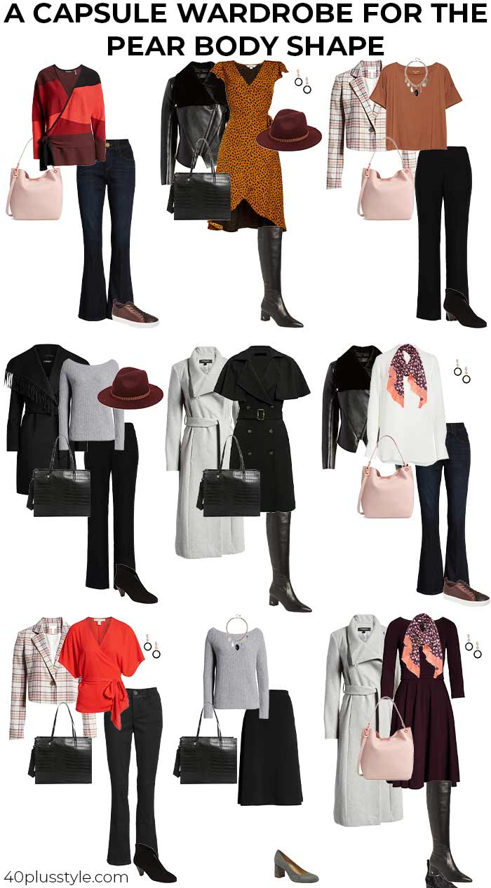 A capsule wardrobe on how to dress a pear body shape   40plusstyle.com