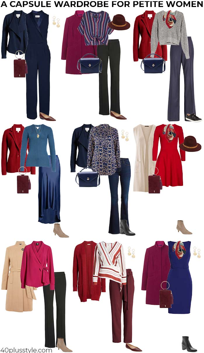 a capsule wardrobe for the petites | 40plusstyle.com