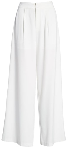 Endless Rose pleated wide leg pants | 40plusstyle.com