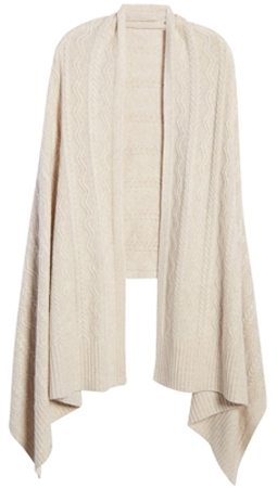 gift ideas for women - Halogen cashmere wrap | 40plusstyle.com