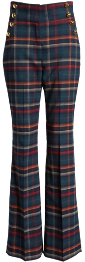 Halogen plaid flare pants | 40plusstyle.com