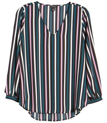 Halogen v-neck blouse | 40plusstyle.com