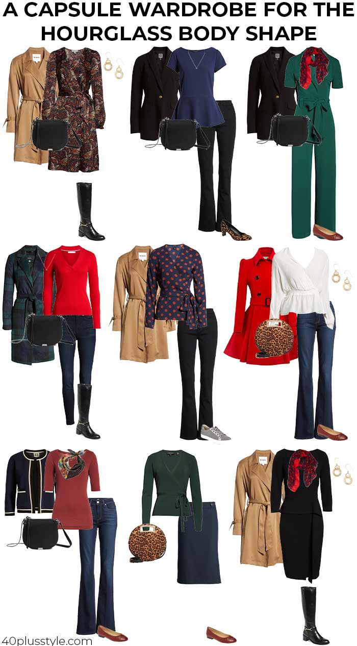 A capsule wardrobe for the hourglass body shape   40plusstyle.com