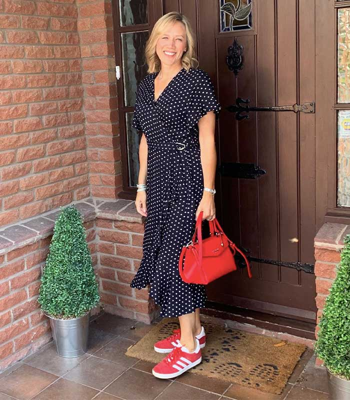 polka dots for women over 40 | 40plusstyle.com