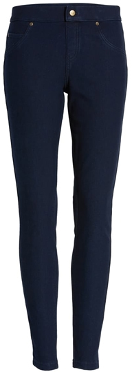 Hue fleece lined denim leggings | 40plusstyle.com