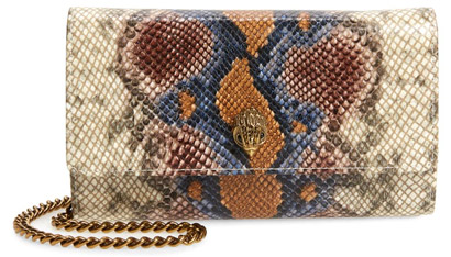 Kurt Geiger London leather wallet on a chain | 40plusstyle.com