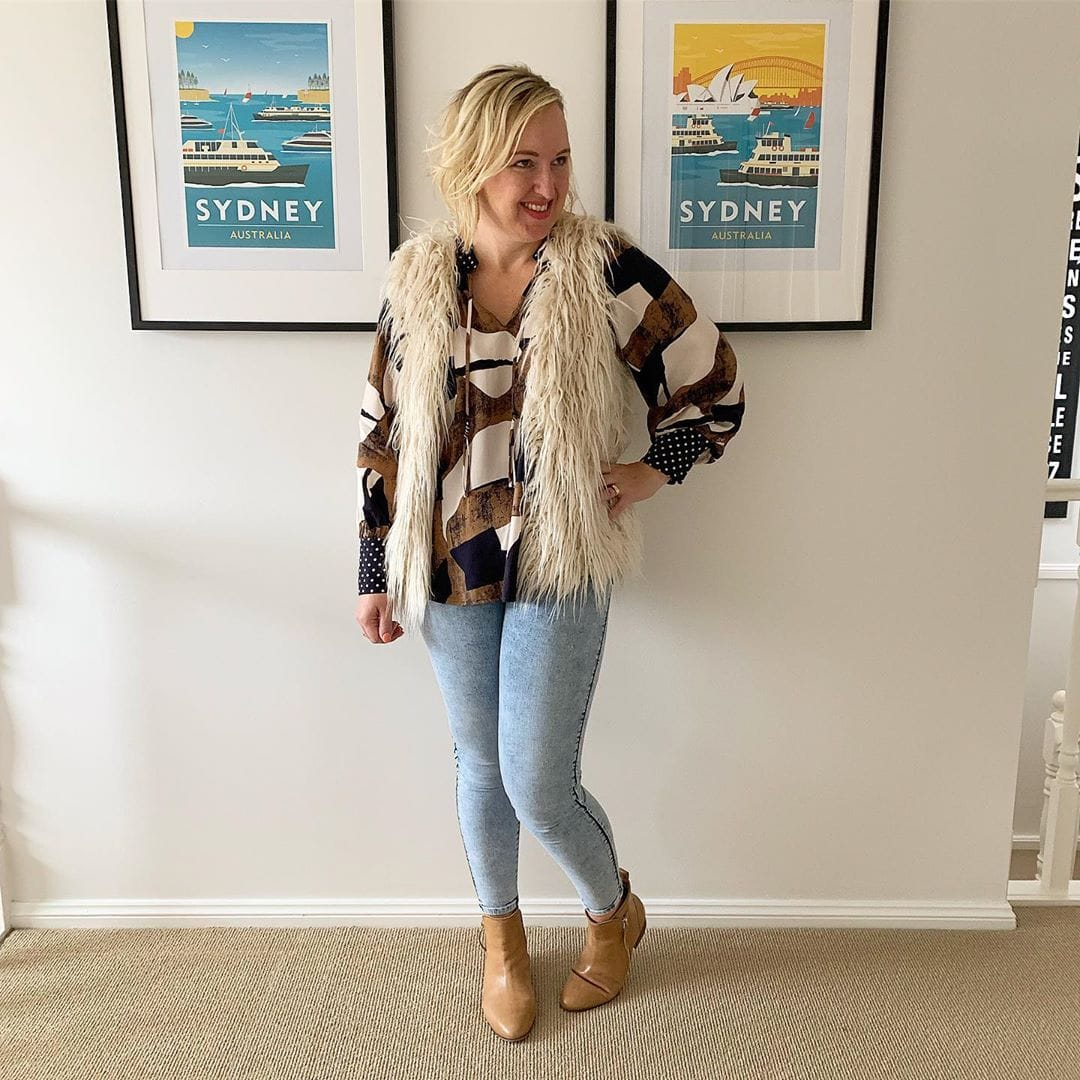 how to dress when you're petite - tops end in the hips or above | 40plusstyle.com