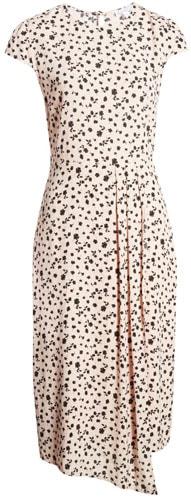 Leith cap sleeve floral dress | 40plusstyle.com