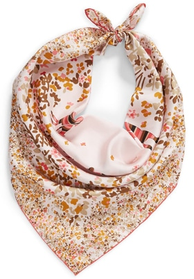 gift ideas for women - gift ideas for women - Longchamp silk square scarf | 40plusstyle.com