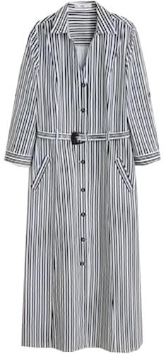 Mango belt shirtdress | 40plusstyle.com