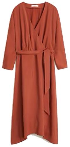 Mango bow wrap dress | 40plusstyle.com