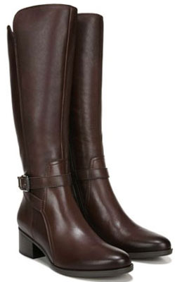 Naturalizer Demetria wide calf boots | 40plusstyle.com