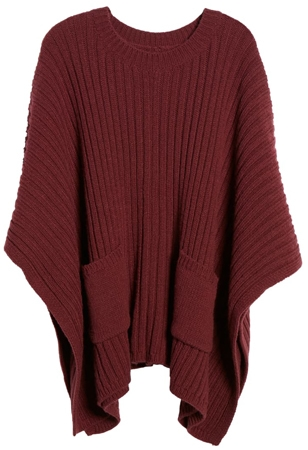 Treasure & Bond rib knit poncho | 40plusstyle.com