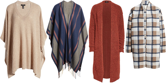 Layering with a poncho or cardigan | 40plusstyle.com