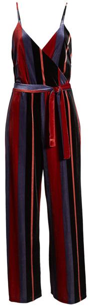 Only velvet stripe jumpsuit | 40plusstyle.com