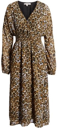 WAYF leopard print dress | 40plusstyle.com