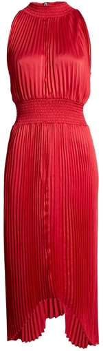 1.State pleated dress | 40pusstyle.com