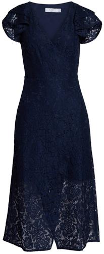 Ali & Jay wrap lace midi dress | 40pusstyle.com