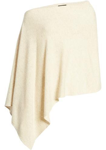 Christmas gift ideas for women: Halogen wool & cashmere asymmetrical poncho | 40plusstyle.com